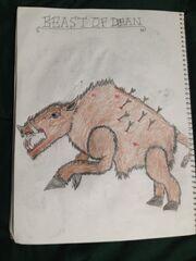 Cryptid sketch beast of dean by strikerprime-d8gp65d