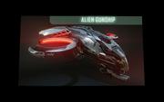 Alien gunship