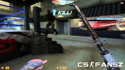"CS Online Crowbar Maverick ""크로우 바 매버릭"" Bot Death Match Gameplay"