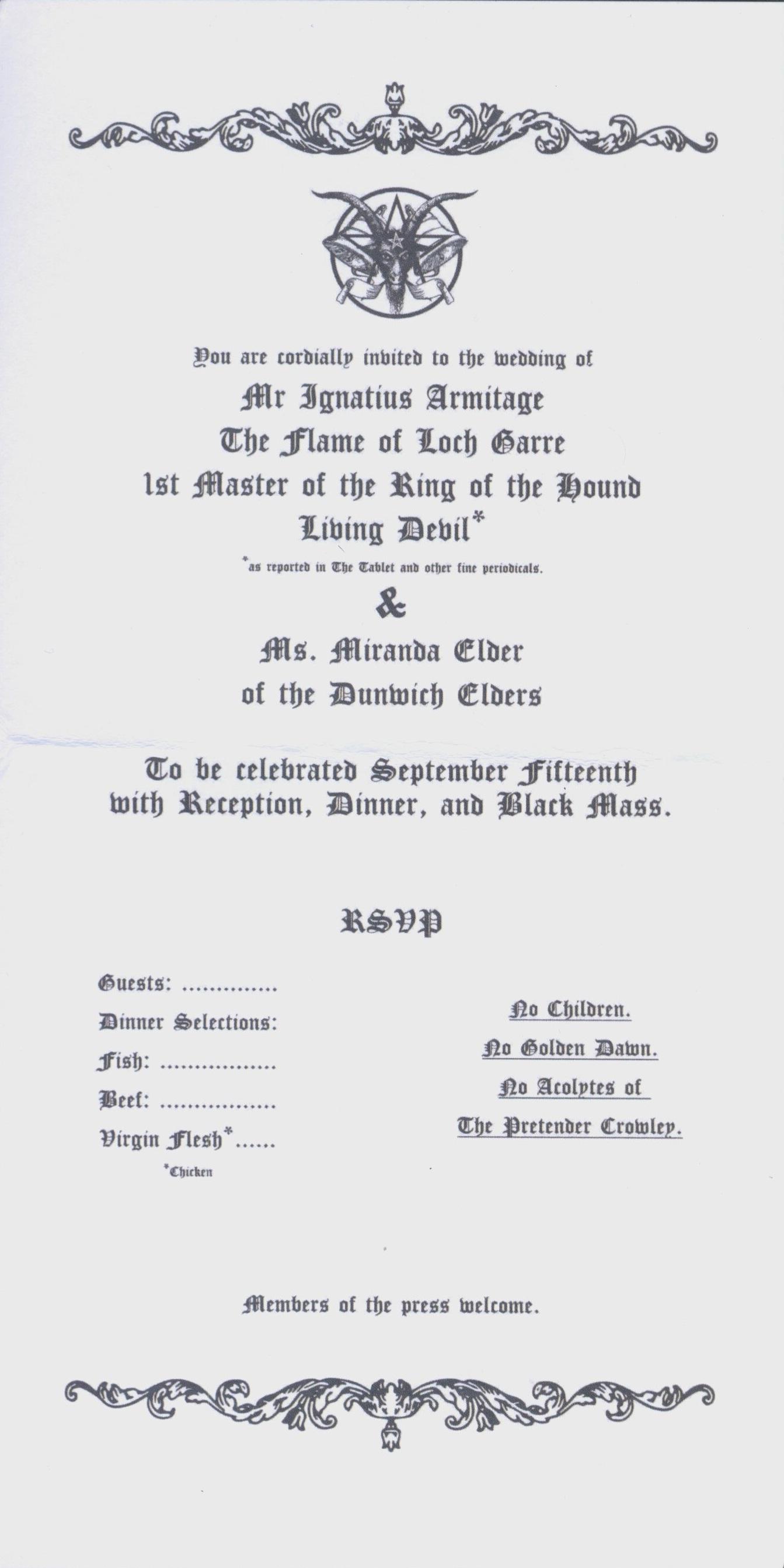 Black Mass Invitation