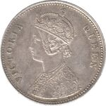 Indian rupee coin 1862-1876 obv