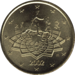 Italy 50 eurocent nat. side
