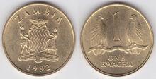 Zambia kwacha 1992