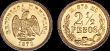 Mexico 2.5 pesos 1872