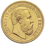 Hesse-Darmstadt Ludwig IV gold