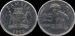 Zambia 25 ngwee 1992