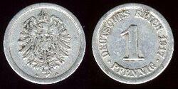 German pfennig 1917