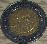 Pedro Moreno 5 peso coin 2009