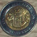 Francisco Villa 5 peso coin 2008