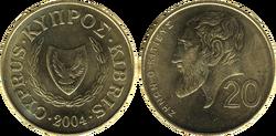 Cyprus 20 cents 2004