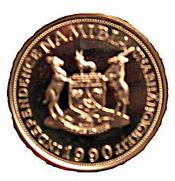 Münze-Namibia-10 Mark-1990-Probe-verso