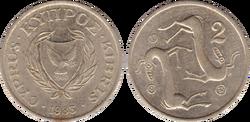 Cyprus 2 cents 1983