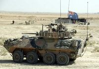 Aslav gun 25mm wheeled armoured infantry fighting vehicle Australian Army 640