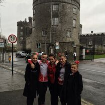 Gianna and girls in Ireland 1March2015
