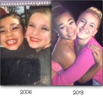 Ayla and Taylor - 2006 (left) - 2013 (right)