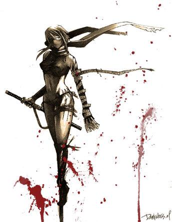 Female Ninja by darkness127