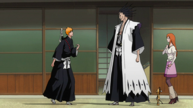 File:Kenpachi tells Ichigo to stay in the Human world.png