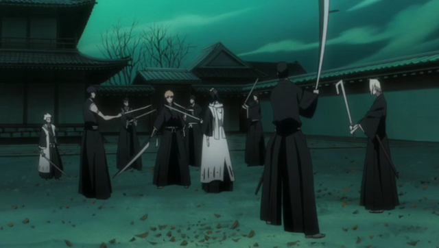 File:Ichigo surrounded by Soul reapers.png
