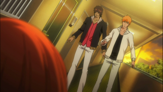 File:Sado and Ichigo rush to Orihime's Side.png