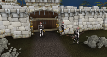 Guards during h'ween event