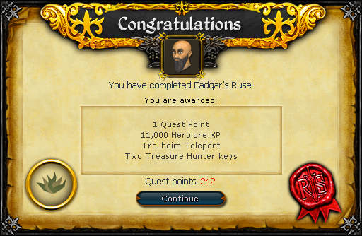 Eadgar's Ruse reward