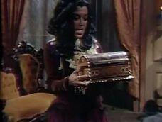 Magda holding the Box