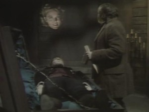 File:Barnabas Collins' Coffin stake with Ben and Angelique.jpg