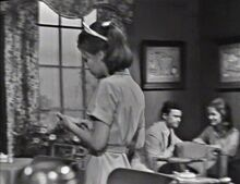 Michael Ann Collinsport Inn Restaurant Customer (uncredited, right) with an uncredited, unnamed male actor ep49