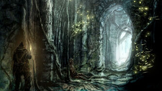 Ruins in a forest