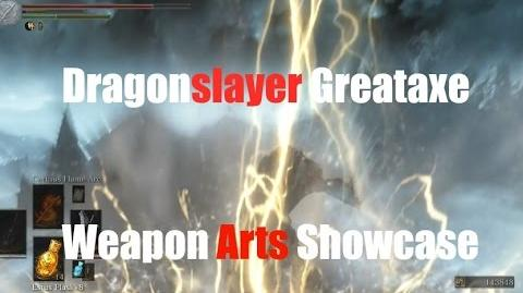 Dark Souls 3 Dragonslayer Greataxe - Weapon Arts Showcase