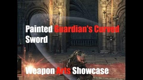 Dark Souls 3 Painted Guardian's Curved Sword - Weapon Arts Showcase