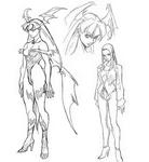Morrigan OVA Sketches
