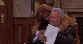 Maggie hugs Victor
