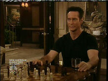 John playing chess