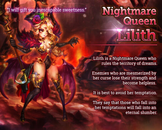Nightmare Queen Lilith release poster