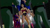 Wonder Woman protects Long Shadow
