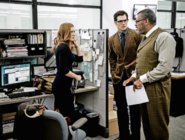 Lois Lane, Clark Kent and Perry White at the Daily Planet