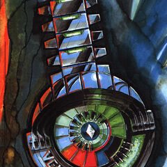 Concept art for Mr. Freeze's watch.