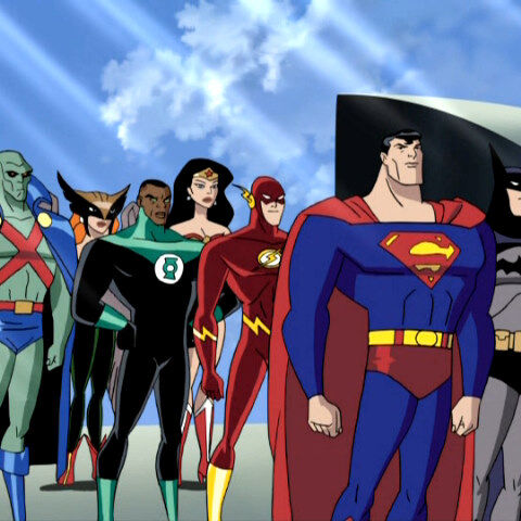The Justice League after defeating the Imperium.