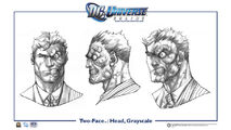 TwoFace head gray