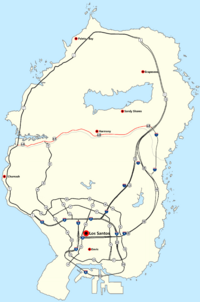 Verlauf der/des Route 68 (rot, zum Vergrößern auf die Karte klicken)