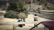 San Andreas Highway Patrol Cop beobachtet Verkehr