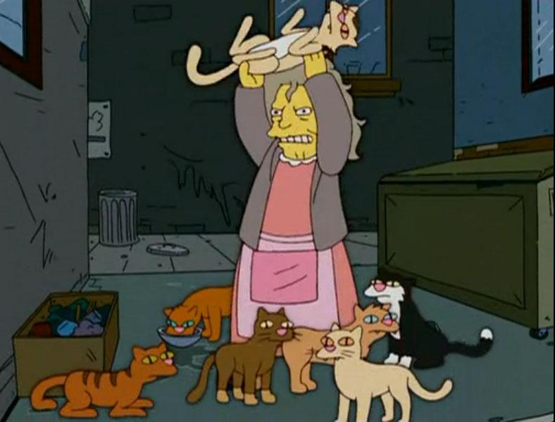 Simpsons Katzenlady