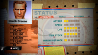 Dead rising 2 case 0 status screen LEVEL 5 attributes