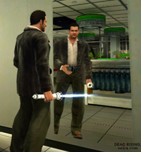 Dead rising laser sword in mirror