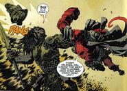 Hellboy vs a demon guy