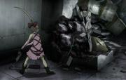 Nagi fights Hibana