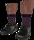Dead rising Black Dress Shoes with Purple Socks