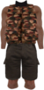 Dead rising Tan Camouflage Vest with Dark Brown Shorts