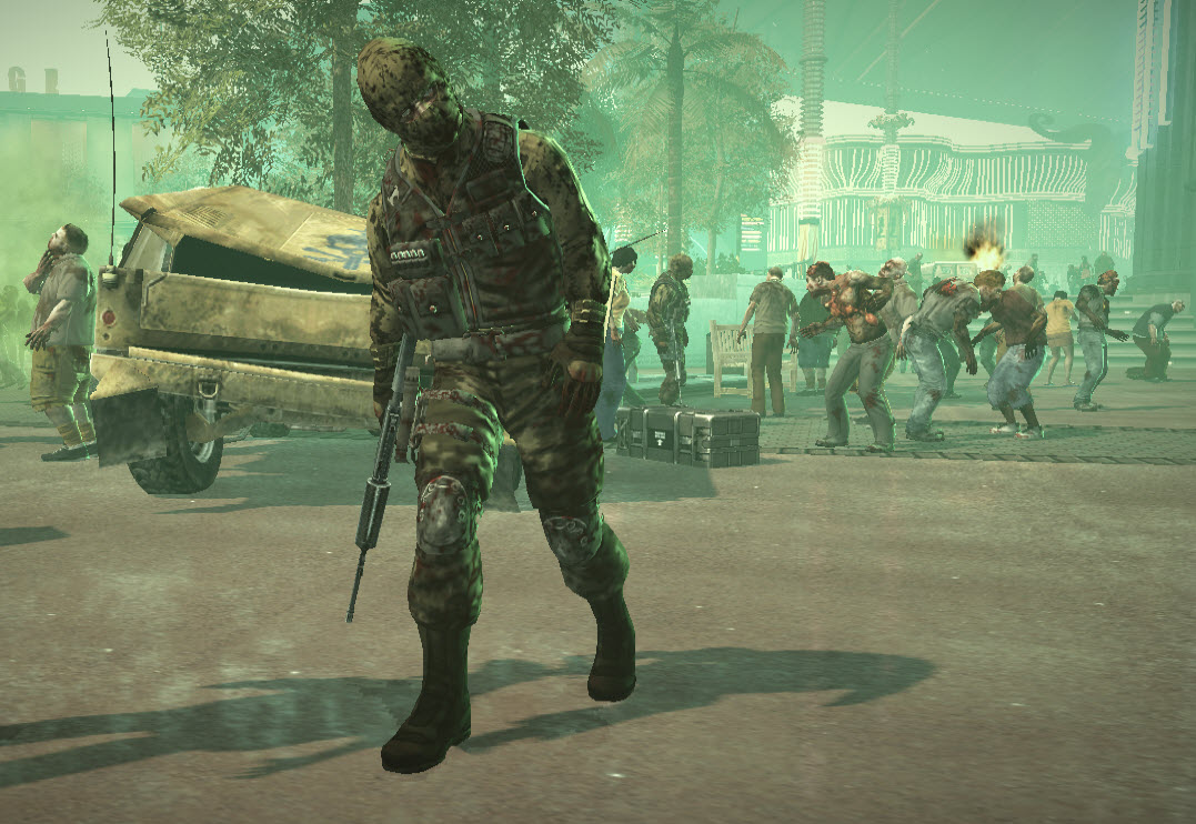 Wow, I love the new military zombie model. He chased me down after ...